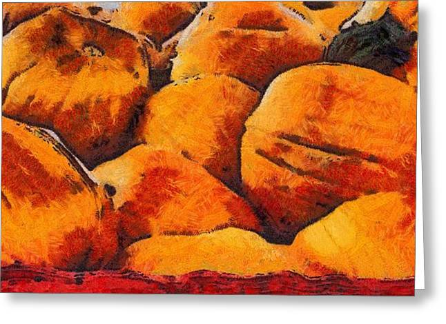 Pumpkin Art Greeting Card by Dan Sproul