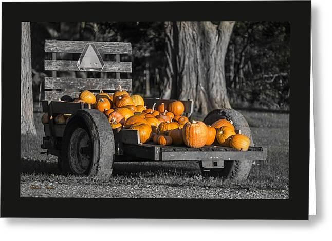 Pumpkin Cart Greeting Card
