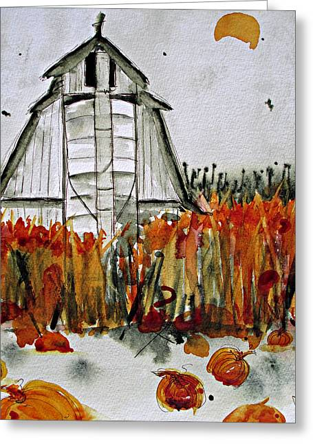 Pumpkin Dreams Greeting Card by Dawn Derman