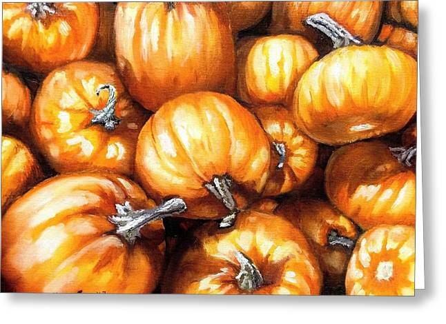 Pumpkin Palooza Greeting Card by Shana Rowe Jackson