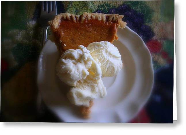 Pumpkin Pie A' La Mode Greeting Card