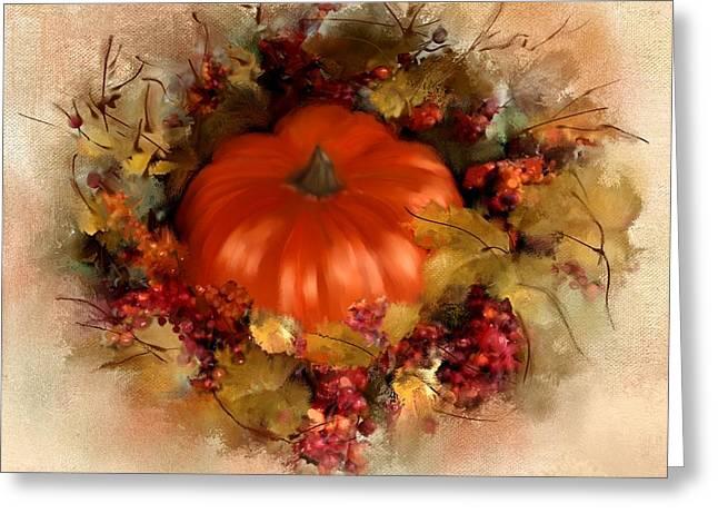 Spiced Pumpkin  Greeting Card