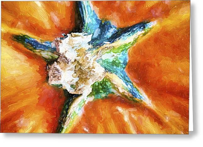 Pumpkin Star Greeting Card