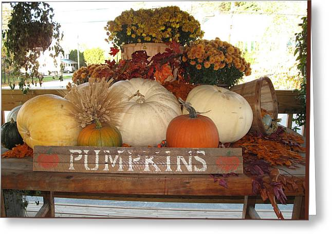 Pumpkin Welcome  Greeting Card