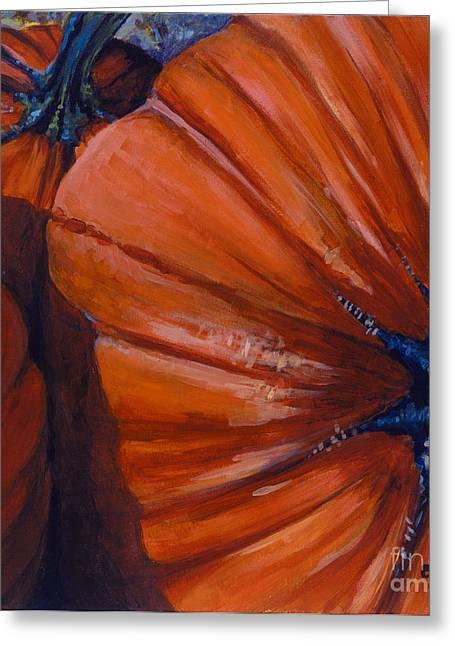 Pumpkins Greeting Card by Betsee  Talavera