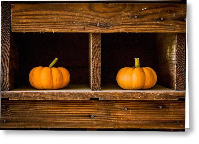 Pumpkins On Display Greeting Card
