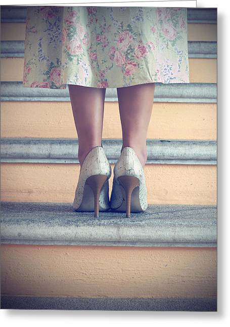 Pumps On Steps Greeting Card by Joana Kruse