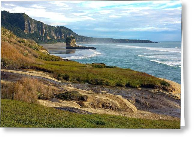Greeting Card featuring the photograph Punakaiki Truman Track by Stuart Litoff