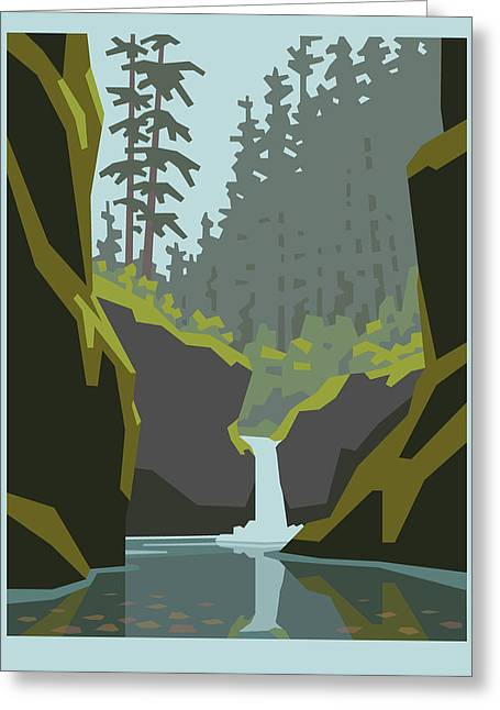 Punch Bowl Falls Greeting Card by Mitch Frey