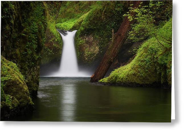 Punchbowl Falls, Columbia River Gorge Greeting Card