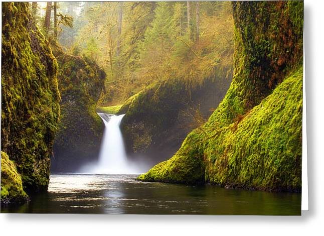 Punchbowl Pano Greeting Card by Darren  White