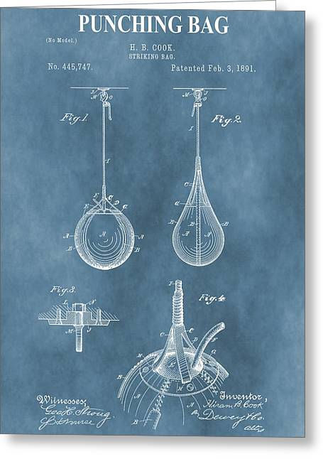 Punching Bag Patent Greeting Card by Dan Sproul