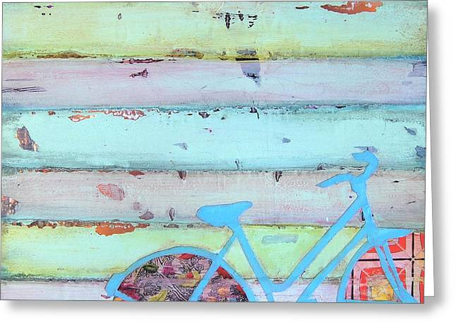 Punctured Bicycle Greeting Card