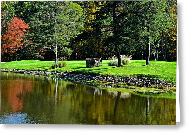 Punderson Golf Course Greeting Card by Frozen in Time Fine Art Photography