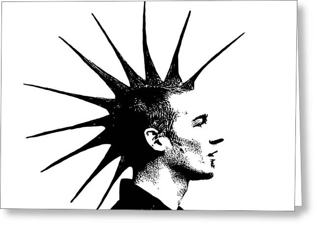 Punk Grain Greeting Card by Penny Ovenden
