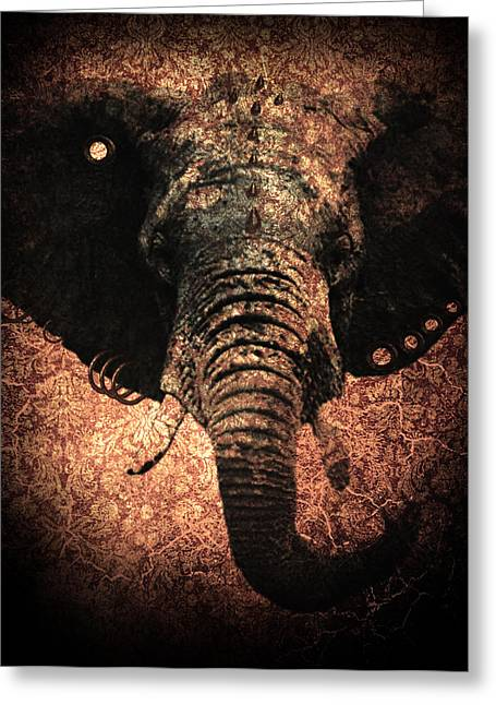 Punkphant Greeting Card by Elena Mussi