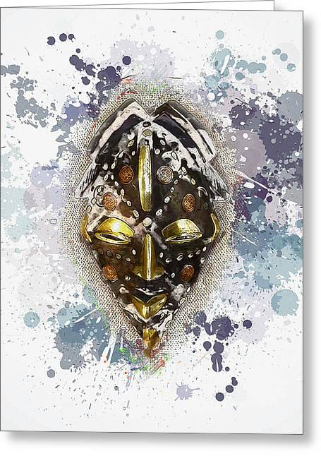 Punu Prosperity Mask Greeting Card