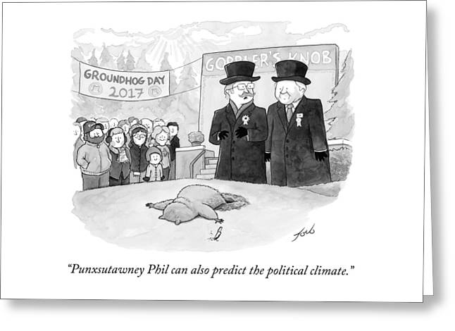 Punxsutawney Phil Can Also Predict The Political Greeting Card