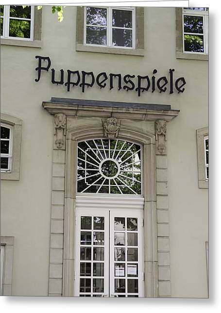 Puppenspiele Theatre Cologne Germany Greeting Card