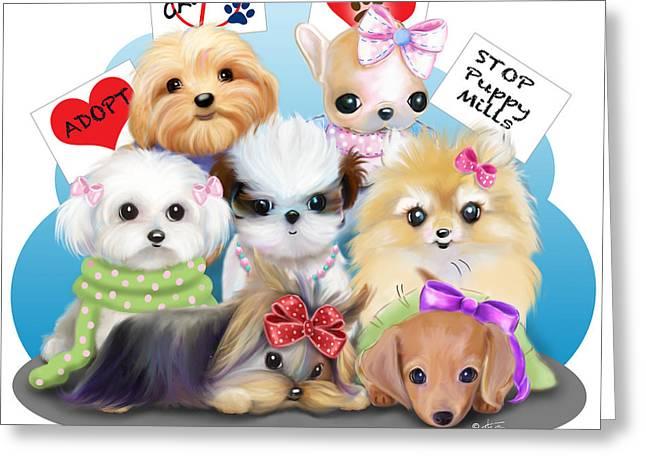 Puppies Manifesto Greeting Card