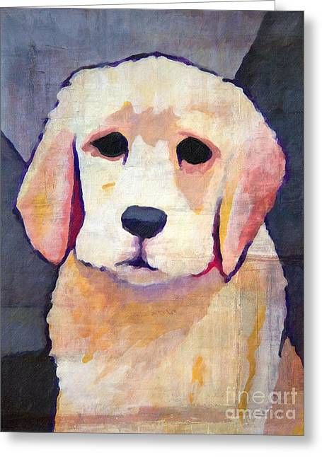 Puppy Dog Greeting Card by Lutz Baar
