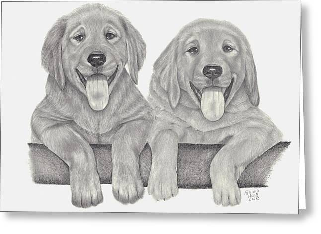 Puppy Love Greeting Card by Patricia Hiltz