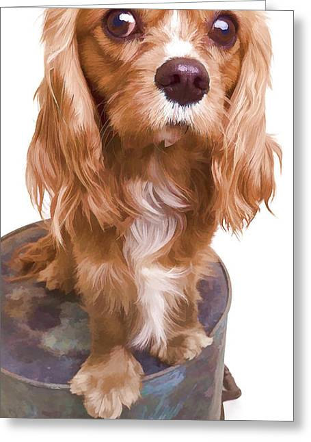Puppy Phone Case Greeting Card by Edward Fielding