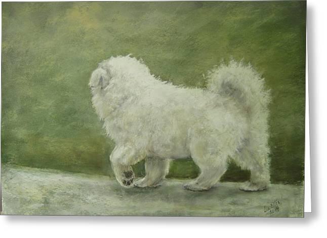 Puppy Struttin' Greeting Card by Elizabeth Ellis