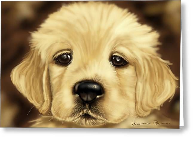 Puppy Greeting Card by Veronica Minozzi