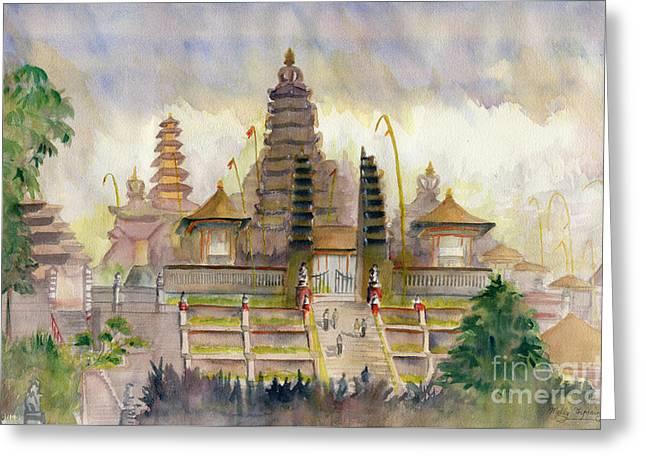 Pura Besakih Bali Greeting Card