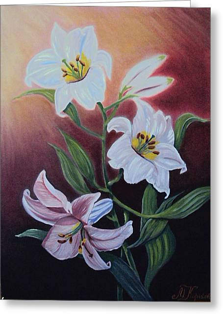 Pure Lilies Greeting Card