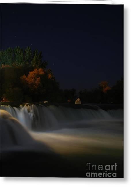 Pure Spirits Of The Waterfall Greeting Card by Erhan OZBIYIK