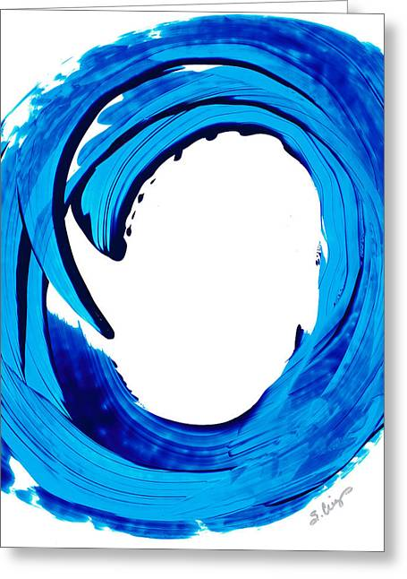 Pure Water 312 - Blue Abstract Art By Sharon Cummings Greeting Card