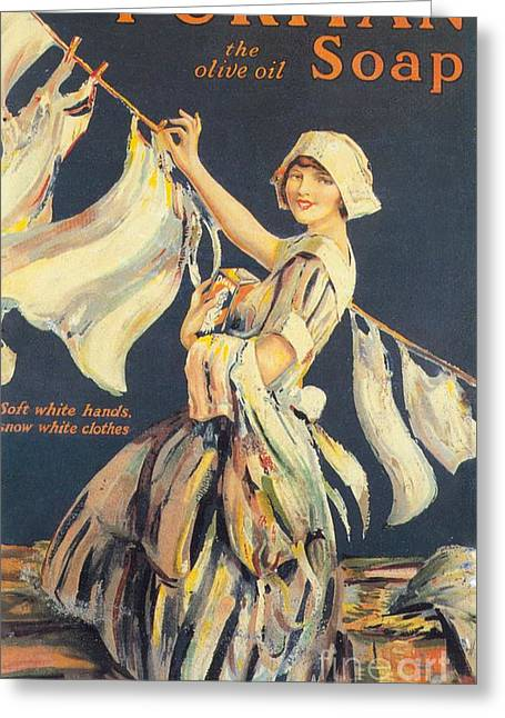 Puritan 1910s Uk Washing Powder Greeting Card by The Advertising Archives