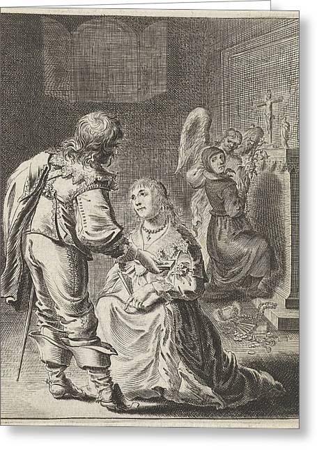 Purity And Vanity, Pieter Nolpe Greeting Card by Pieter Nolpe
