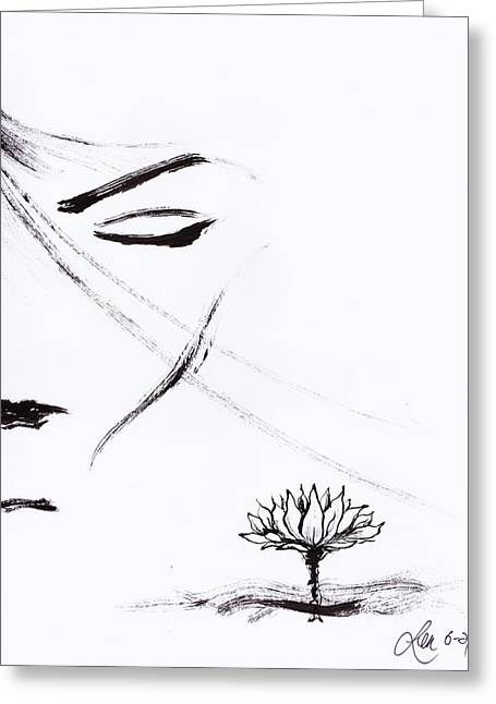 Purity Greeting Card by Len YewHeng