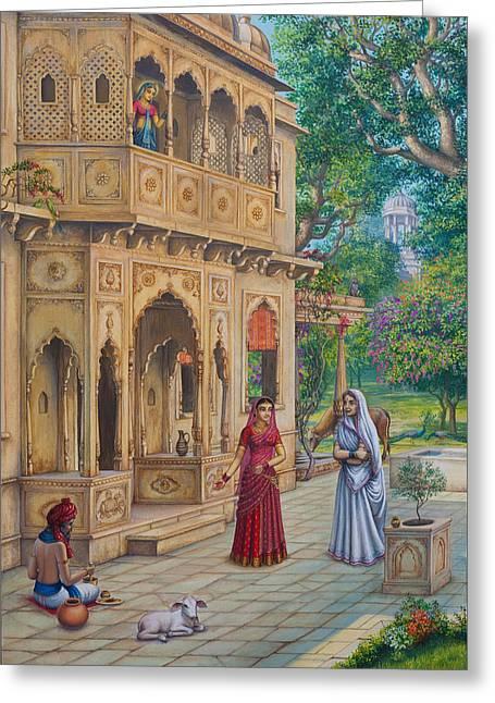 Purnamasi In House Of Kirtida Greeting Card by Vrindavan Das