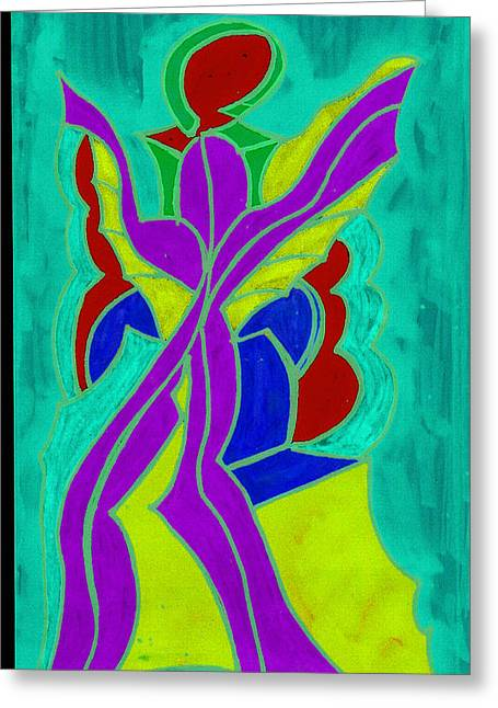 Purple Angel  Greeting Card by Ken Gidge