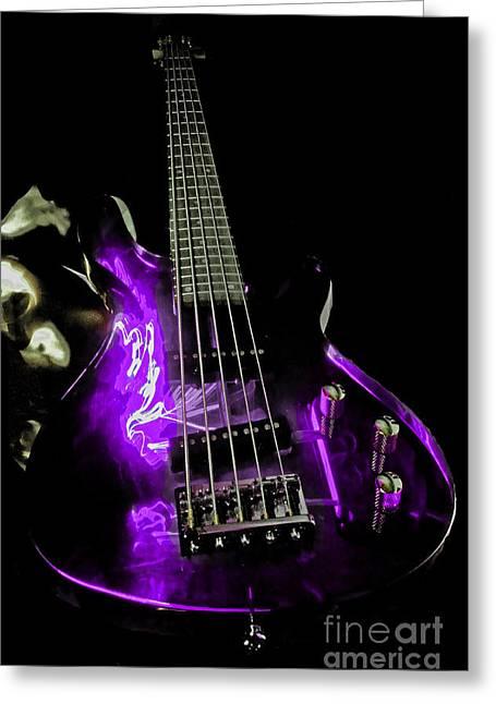Purple Axe  Greeting Card by Rob Hawkins