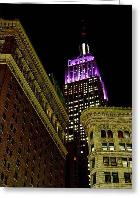 Greeting Card featuring the photograph Purple Beacon by Michael Dorn