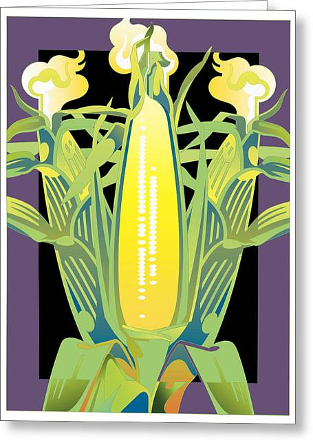 Purple-black Corn Greeting Card