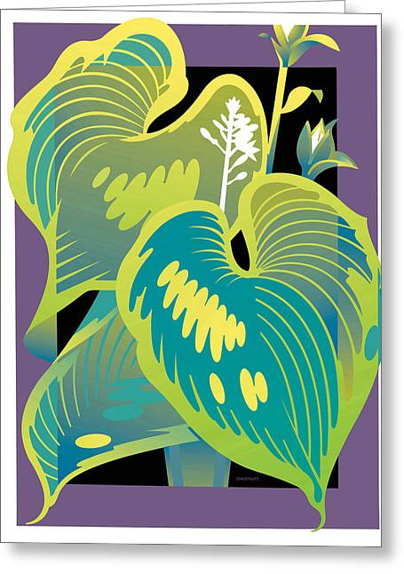 Purple-black Hosta Greeting Card
