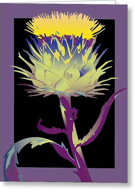 Purple-black Thistle Greeting Card