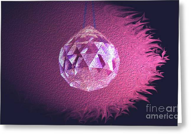 Purple Blaze Greeting Card
