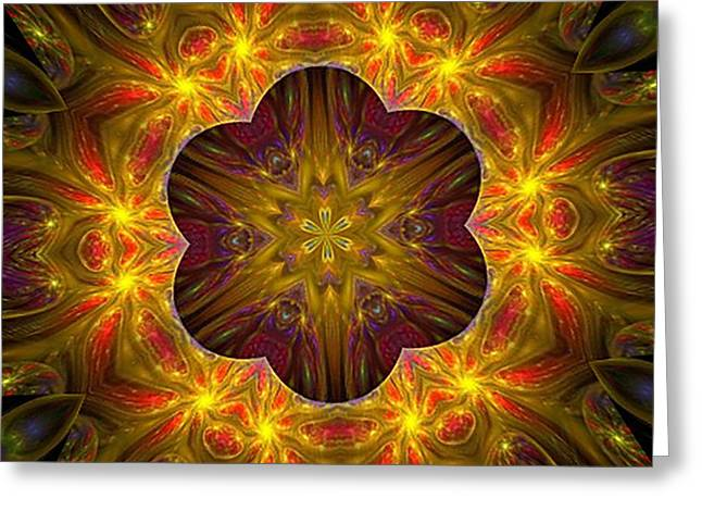 Purple Bliss Kaleidoscope Greeting Card
