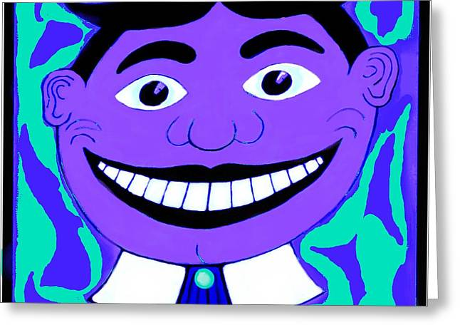 Purple Blue 1960s Tillie Greeting Card by Eric  Schiabor