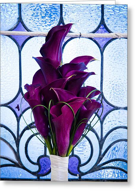 Purple Calla Lilies Greeting Card