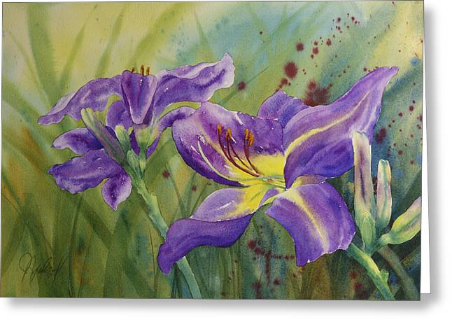 Purple Day Lily Greeting Card