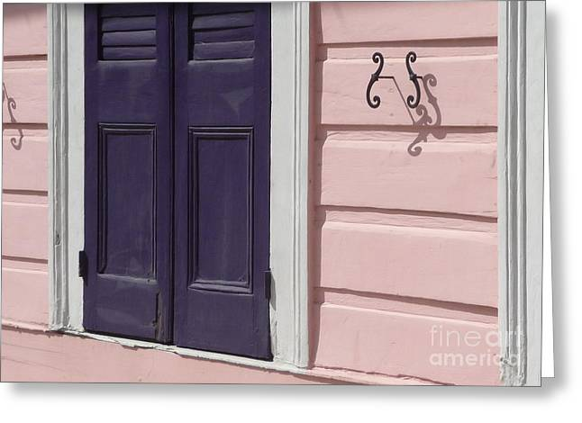 Greeting Card featuring the photograph Purple Door by Valerie Reeves