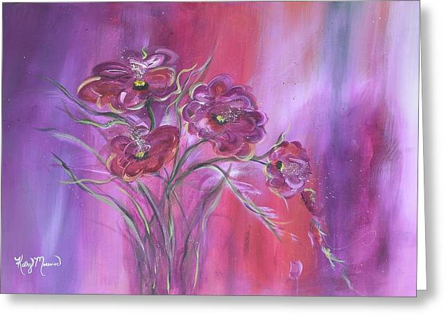 Purple Drifter Greeting Card by Kathy Morawiec